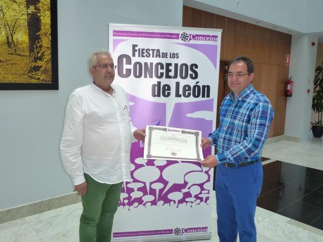 Entrega del Premio a Juan López del Moral (Ciñera)